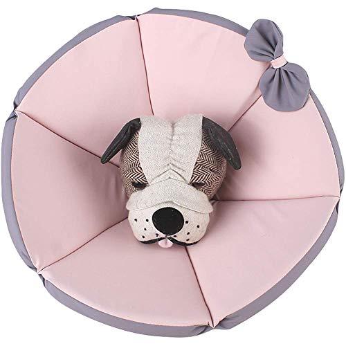 Umora 犬猫用 エリザベスカラー ペット用品 傷舐め防止 引っ掻き防止 調節可能 柔らかい 超軽量 布製(ピンク XXXL)