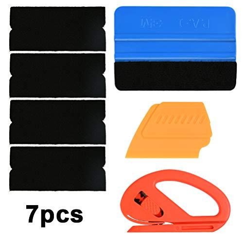 YANSHON Fahrzeug Vinyl Wrap Werkzeug Basic Kit mit Rakel Filz