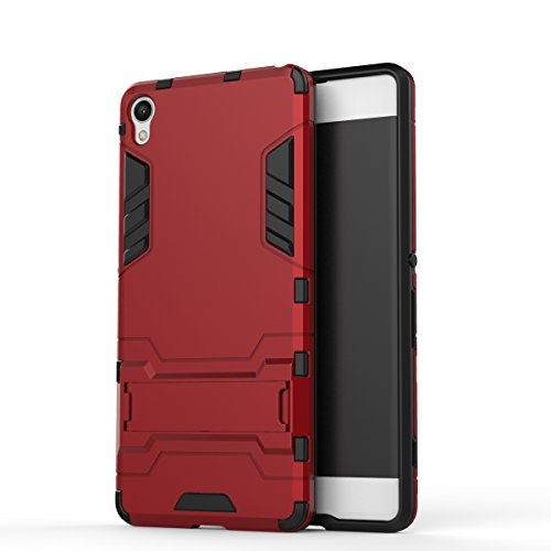 Cocomii Iron Man Armor Sony Xperia XA Case, Slim Thin Matte Vertical & Horizontal Kickstand Reinforced Drop Protection Fashion Phone Case Bumper Cover Compatible with Sony Xperia XA (Red)