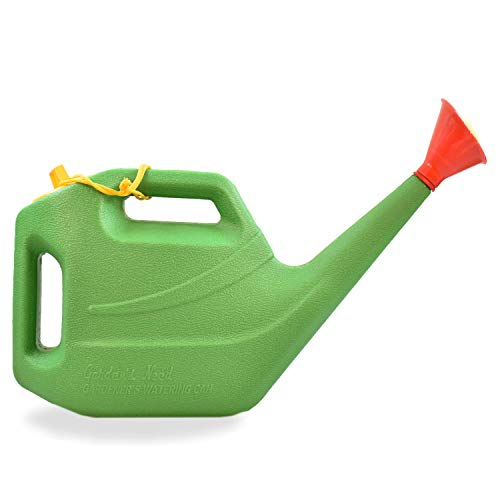 Klassic KL-100 Premium Quality Plastic Green Watering Can for plants/ Garden/ with Sprayer (5 Liters)