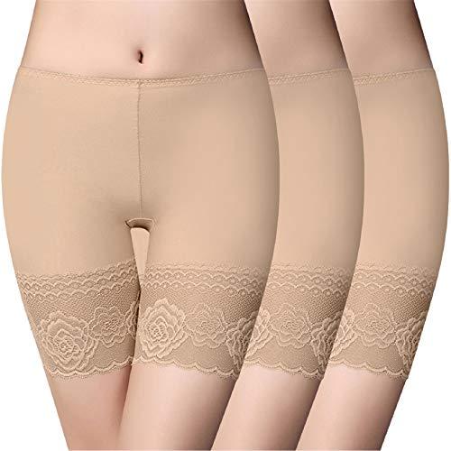 Voqeen Pantalones Cortos Mujer Anti Chafing Pantalones Seguridad Debajo de la Falda Leggings Mujer de Encaje...