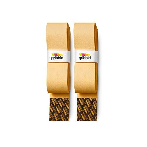 GRIBBID Progrip® Original Hockeygriff aus Chamois, Gelb, 2 Stück