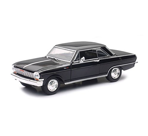 New Ray 71823B 1964 Chevrolet Nova SS Black Muscle Car Collection 1/25 Diecast Model Car
