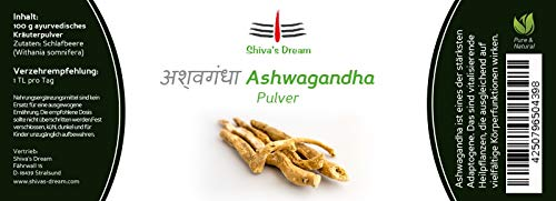Relax Ashwaganda poeder | gecontroleerde kwaliteit uit India | Shiva's Dream | Slaapbessen | Indiase Ginseng | Relax