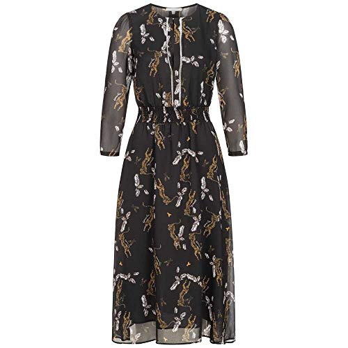 Patrizia Pepe Midi-Kleid mit Leopard-Print und verkürztem Arm 40 braun