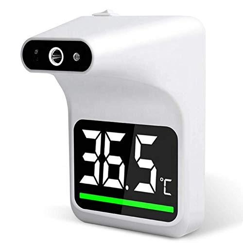 Termómetro digital sin contacto con pared, con función Bluetooth, termómetro de frente infrarrojo, con alarma, lecturas instantáneas precisas, adecuadas para termómetros de prueba profesionales en esc
