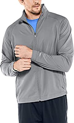 Coolibar UPF 50+ Men's Outpace Sport Jacket - Sun Protective (XX-Large- Iron) by Coolibar