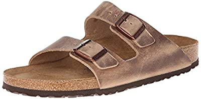 Birkenstock Unisex Arizona Tobacco Oiled Leather Sandals - 44 M EU / 11-11.5 D(M) US
