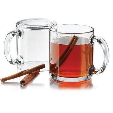 Libbey 13 oz. Robusta Classic Coffee Mug in Clear, Set of 4