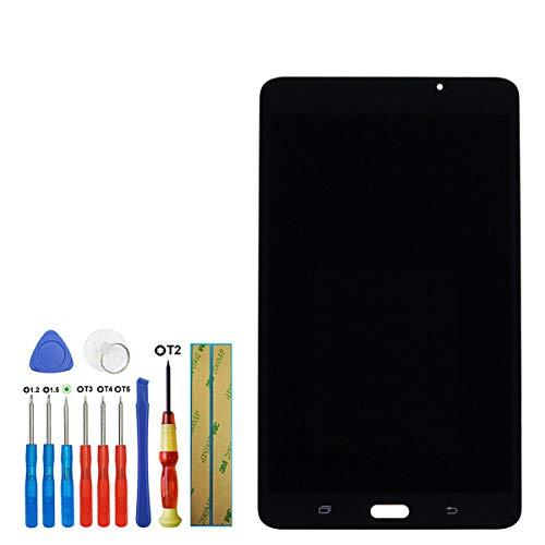 swark - Display LCD compatibile con Samsung Galaxy Tab A 7.0 WiFi Tablet SM-T280 (non per versione 3G & T285 & No Earpiece Hole) 7,0 pollici touch screen (nero + senza cornice) con strumenti