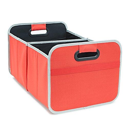 achilles Auto Faltbox, Kofferraum-Organizer, Faltbare Autotasche, Faltkorb, Aufbewahrung Taschen, Kofferraumtasche, rot, 50 cm x 32 cm x 27 cm
