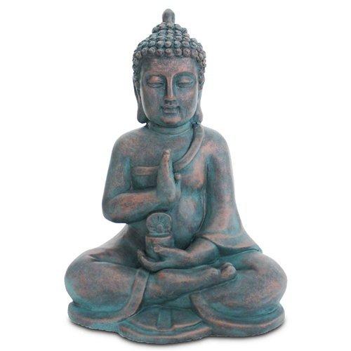 Art Deco Home - Figura Buda Sentado Resina 40 cm
