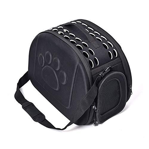 Redcolourful Bolsa de transporte portátil para mascotas de viaje para perros pequeños, tamaño grande, color negro