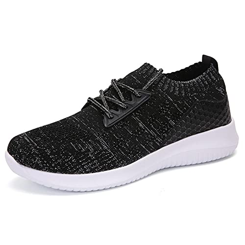 Aerlan Street Running Shoes,Zapatos sin Gas para Mujer, Ligeros, Informales, Deportivos, Zapatos de Mujer-Negro_35,Zapatillas de Running para Hombre y Mujer