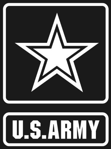 Autocollant u.s. aRMY sTAR logo white window bumper sticker or