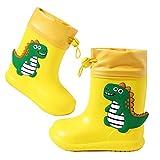 Botas de Agua Unisex Niños Niñas Luces Wellington Botas de Lluvia Impermeable y Antideslizante Rain boots 106 amarillo EU 22/23 (Tamaño de la etiqueta 150)