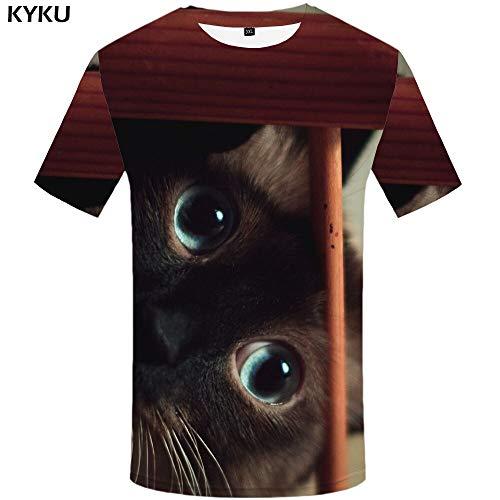 YUNDONGXIENV T-Shirt 3D Aigle t-Shirt Hommes Animaux t-Shirts féroces t-Shirts 3D Chemise Impression vêtements vêtements pour Hommes
