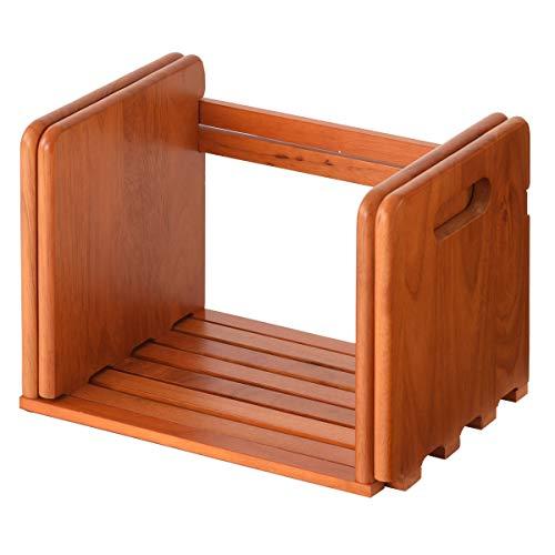ぼん家具 本立て ブックスタンド 卓上 本棚 木製 ブックエンド 伸縮 ラック すべり止め ブラウン