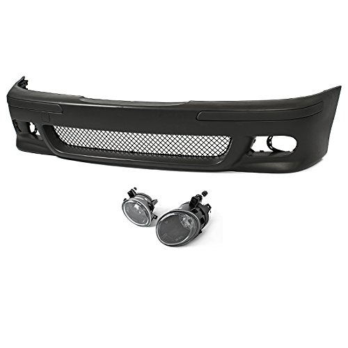 M5 Style Front Bumper Cover + Clear Fog Lights