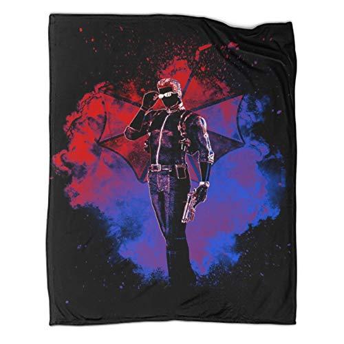 Manta cómoda y cálida de 100 x 130 cm, diseño de anime Soul of Wesker