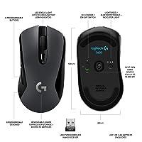 Logitech G603 LIGHTSPEED Mouse Gaming Wireless - Bluetooth con Ricevitore USB, Sensore 12K HERO, 12.000 DPI, Leggero, 6 Pulsanti Programmabili, Batteria 500h, PC/Mac - Nero #8