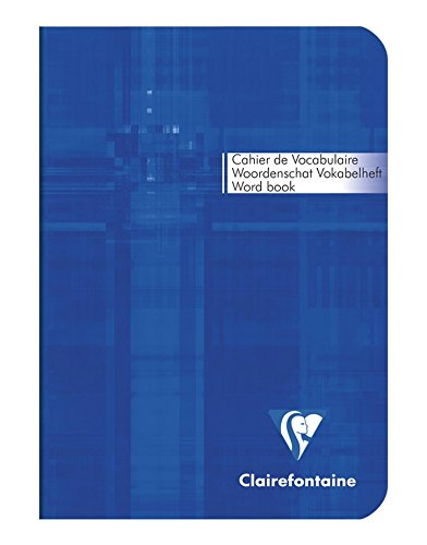Clairefontaine Metric - Cuaderno para vocabulario (10,5 x 14,8 cm, 64 páginas de líneas y 2 columnas), portada con texto en francés, colores surtidos