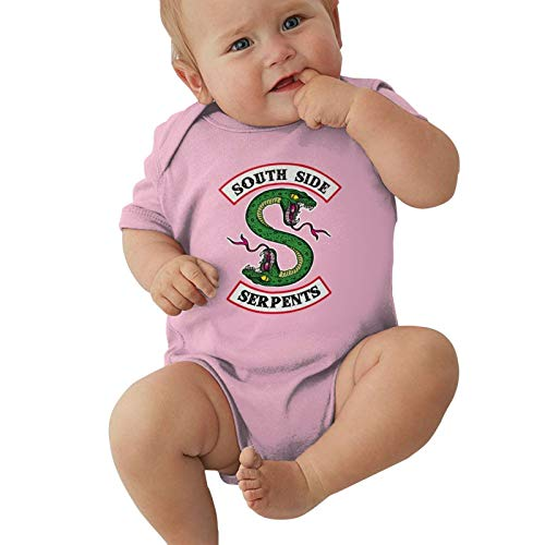Southside-Serpents Baby Boys Pijama Unisex Romper Baby Girls Body Infant Kawaii Jumpsuit Outfit 0-2t Niños,Rosa,0-3 Meses