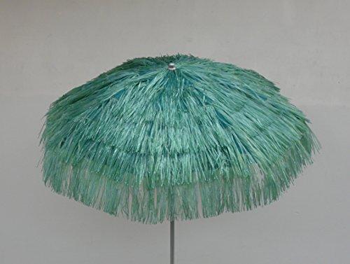 Maffei Art 6 KENYA, ombrellone rotondo diametro cm 200, ricoperto con rafia, Made in Italy