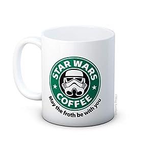 mug-tastic Star Wars Parodia - May The Froth Be with You - Taza de Café de Cerámica 7