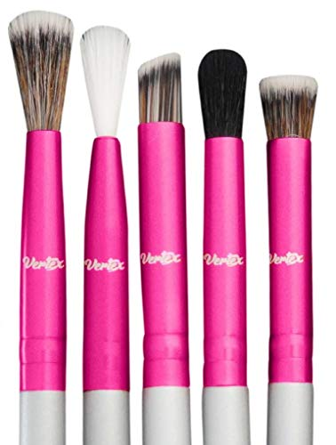 Eye Shadow Blending Brush Set - Cut Crease Brush Pro Shader For Smooth Soft Finishes Tapered Brushes Soft Blender Expert Eyeshadow Shading - Effortlessly Blend & Shade Cream Powder Highlighter