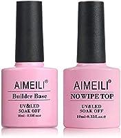 AIMEILI Top Coat en Clear Builder Gel 2 in 1 Nail Extension Builder Base Gel Nagellak UV LED Gellack Soak Off Nail...