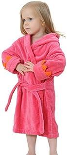 ベビー バスローブ キッズ フード付きバスローブ タオル地 ガウン 子供用 お風呂上がり ルームウェア (50CM(0-2歳), ローズレッド)