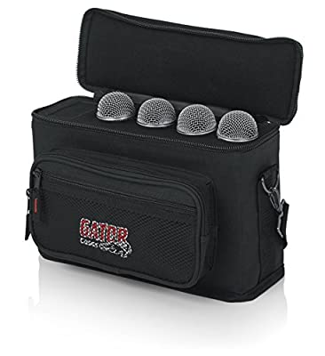 Gator Padded Bag for Upto 4 Mics with Exterior Pockets for Cables