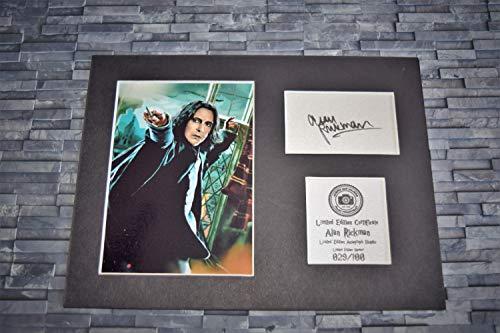 Alan Rickman Signed Autograph Display?Severus Snape?Harry Potter?montiert und bereit zu gerahmt Werden