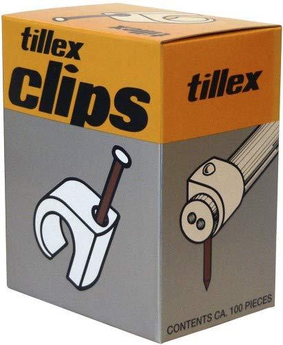 Tillex 1189 kabelgleuker en kabelbinder, zwart, 1,9 cm, 100 stuks