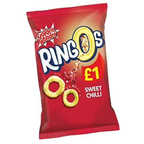 Golden Wonder Sweet Chilli Ringos 55 g - 15 Count