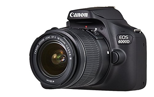 Canon EOS 4000D-Set Kamera SLR–6,8cm, 18MP, Bluetooth, WiFi, Schwarz