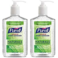 2 Pack Purell Advanced Hand Sanitizer Naturals with Plant Based Alcohol, 12 fl oz