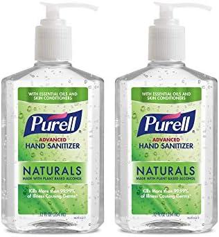 2 Pack Purell Advanced Hand Sanitizer Naturals, 12 fl oz