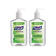 Help your family and those you care about kill germs on their hands with PURELL Advanced Hand Sanitizer Naturals, made with naturally derived alcohol 2X Sanitizing Strength. One squirt of PURELL Advanced Hand Sanitizer equals two squirts of other nat...