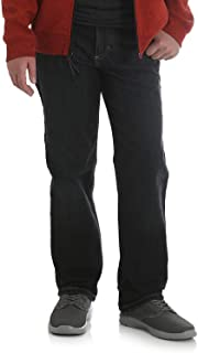 Wrangler Boy's Athletic FIT Jeans with Adjustable Waist (Shadow Black, 5 Slim)