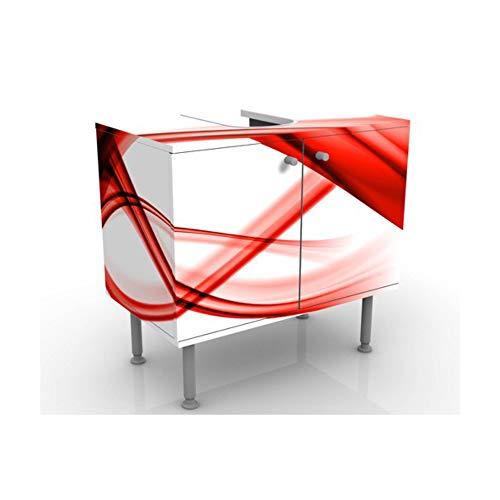 Meuble sous Vasque Design Red Element 60x55x35cm, Petit, 60 cm de Large, réglable, Table de lavabo, Armoire de lavabo, lavabo, Meuble Bas, Baignoire, Salle de Bains, Armoire de Salle Bains