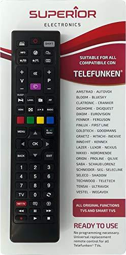 Superior Telecomando universale di ricambio per tutte le TV e SMART TV di Marca TELEFUNKEN & VESTEL