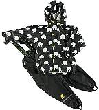 Celavi - Abrigo impermeable de manga larga con cuello redondo para niño, color multicolor (color...