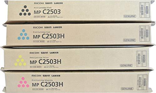 Ricoh Lanier MP C2503 Standard Yield Toner Cartridge Set