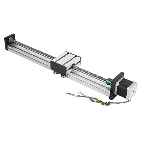 Hochpräzise Linearführung Schlittentisch Kugelumlaufspindel 0808 Kugelumlaufspindel Langtischantrieb Führungsschiene mit Nema17 42 Schrittmotor(300mm)