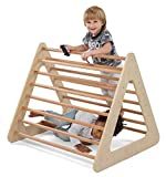 CASSARO Pikler Triangle Large - Triangle Only - Large Indoor Climbing Pikler Triangle to Develop Strength, Balance and Motor Skills, Fun Climb On for Kids
