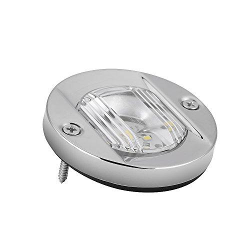 Feux de Navigation, Keenso Lumière de Signalisation de Sécurité Lampe de Navigation Voyant de Navigation LED 12V Imperméable à l'Eau Marine Bateau en Acier Inoxydable Lumière Blanc