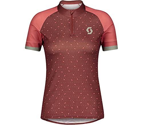 Scott Endurance 30 Damen Fahrrad Trikot kurz Coral rot 2021: Größe: XS (34/36)