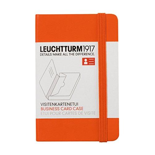 LEUCHTTURM1917 350144 Visitenkartenetui, 65 x 100 x 15 mm, Orange